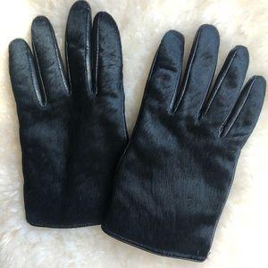 Banana republic calf hair and leather gloves